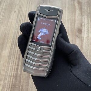 Original Vertu Ascent Ti White Leather Unlocked, Cellular Phone