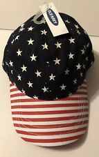 92869475fc9 Old Navy USA Baseball Hat Red White   Blue Stars and Stripes 1 Sz Cap