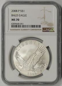 2008-P Bald Eagle Modern Commemorative Silver Dollar $1 MS 70 NGC