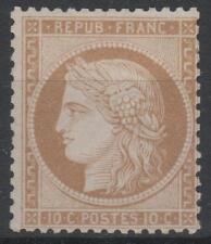 """FRANCE YVERT 36a SCOTT 54 """" CERES 10c BISTER 1870 """" MH VF  K578"""