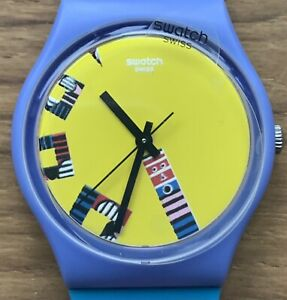 2020 SWATCH SERIOUS ACTION BY TATHAM AND SULLIVAN ARTIST SPECIALS GZ342