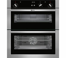 NEFF U17S32N5GB BUILT-UNDER DOUBLE ELECTRIC OVEN, STAINLESS STEEL, BRAND NEW