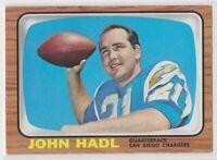 1966  Topps JOHN HADL Football Card # 125 - SAN DIEGO CHARGERS