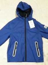 BNWT Mexx Boys Raincoat, UK 8 - 9 years Eur size 134, RRP €50 waterproof blue