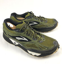 Brooks Cascadia 5 Mens Size 12 Green Trail Running Shoes