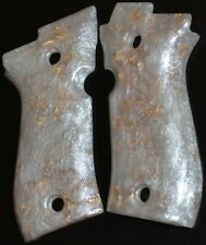 Beretta 84 Cheetah pistol grips pearl with gold leaf smooth plastic