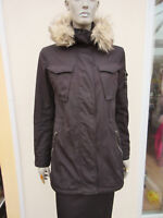 S13/NYC - Womens Black Fleece Lined Hooded Parka Coat Anorak - size M /12