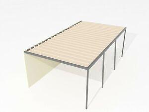 Carports/Pergolas 11m×4m Flat Colorbond® + PC Roof