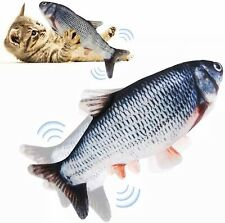 Fish Toy For Cat Realistic Plush Simulation Electric Motion Usb Charging.