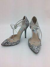 Betsy Johnston Women's High Heel: Stela I Silver Glitter I Size 7 (NNO22)