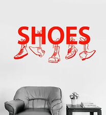 Vinyl Wall Decal Shoe Shop For Men Boot Sneakers Signboard Stickers (1558ig)