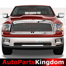 09-12 Dodge Ram 1500 Truck Chrome Packaged Mesh Grille+Shell Replacement Grille