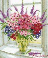 "VERVACO ""Sweet Williams Vase"" FLOWERS CROSS STITCH KIT - NIP #70.323"