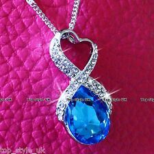 Heart Necklace Diamond Pendant Infinity Necklace Girlfriend Gifts for her Women