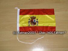 Fahnen Flagge Spanien Bootsfahne Tischwimpel - 27 x 40 cm