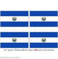 """EL SALVADOR Salvadoran Flag Salvadorean 50mm(2"""") Vinyl Bumper Stickers Decals x4"""