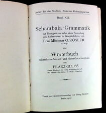 Schambala grammaire Dictionnaire 1912 Deutsch-Ostafrika simples adaptés aux tanzanie usambara