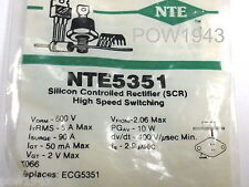 Nte 5351 Scr - 5 Amp @ 600 Volts To-66