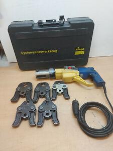 Viega Typ TP3-H Pressmaschine Presszange 5x V Pressbacke Presswerkzeug V Kontur