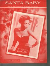 Santa Baby 1953 Eartha Kitt - Christmas Sheet Music