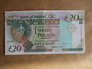 BANK  OF  IRELAND £20  NOTE, 1991. PREFIX  C.