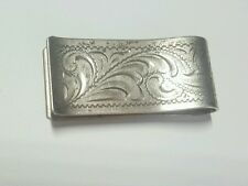 Vintage Leaves Money Clip in Sterling Silver