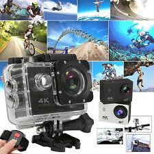 4K Ultra HD DV 2.0'' LCD 170º WiFi Acción Cámara Deportiva Buceo + 2.4G Remoto