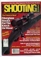 SHOOTING TIMES Magazine April 1985 Fiberglass Stocks Put The Knock On Wood