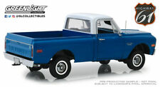 1/18 1970 Chevrolet C-10 Pickup Truck with Lift Kit Dark Blue with White Top by