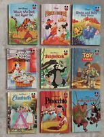 Disney Wonderful World of Reading Lot of 9 Childrens Hardcover Books Used