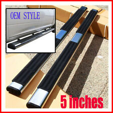 "For 04-15 Frontier Crew Cab Running Board 5"" Oval Nerf Bars Side Steps OE Style"