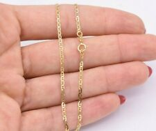 """9"""" 1.6mm Mariner Anchor Link Chain Bracelet Anklet Ankle Real 10K Yellow Gold"""