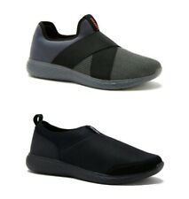 a2af4a32c73 AND1 Men s Memory Foam Slip-on Gray or Black Athletic Sneakers Shoes  ...