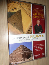 DVD N° 10 LA SFIDA DELLE PIRAMIDI CAPOLAVORI DELLE GRANDI CIVILTA'  PIERO ANGELA