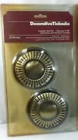 Pair Of New JC Penney Brass Decorative Tiebacks Antiqued Gold Holders JCP