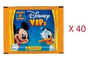 Disney Vips Mickey Donald Lot 40 Packs Stickers Panini