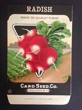 1930-40s Litho Antique Vintage Seed Packet Radish Wh Tip  Seed Co Packs Ex