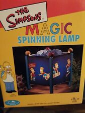 Bart Simpson..MAGIC SPINNING LAMP NRFB New In Box, 1998