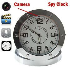 720P Spy Hidden Desk Clock Sound Detection Secret Surveillance Video Camera DVR