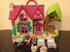 Happyland Cherry Tree Cottage with People Pets and Furniture from ELC