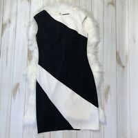 Lauren Ralph Lauren White Black Colorblock Sheath Dress Sleeveless Office Size 6