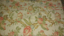 Pottery Barn Duvet King Orgnic Cotton Yellow Coral Blue Green French Floral Vine