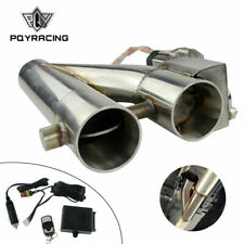 "Universal 2.5"" Electric Exhaust Downpipe Cutout E-Cut Out Dual Valve Remote Wire"
