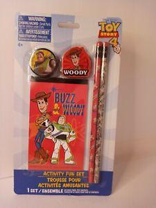 Toy Story 4 Activity Fun Set w/Pencils, Eraser, Sharpener, Drawing Pad *New*