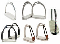 ALL TYPES & SIZES ENGLISH SADDLE STIRRUP IRONS CHILDS & ADULT FILLIS OR PEACOCK