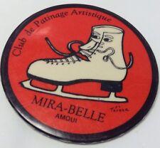 "Vintage 2"" Figure Skating Club Promo Button Pinback MIRA-BELLE Macaron AMQUI P.Q"