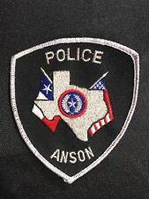 ANSON POLICE PATCH--B03
