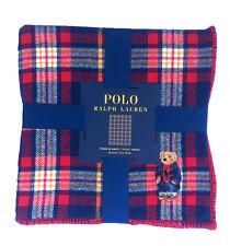 "Polo Ralph Lauren Polo Polo Bear Plaid Throw Blanket 50"" x 70"""