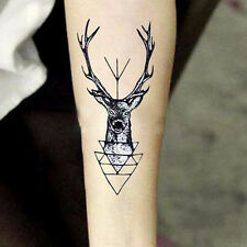 Wasserfest Temporary Tattoos Sticker Elk Head Körper Aufkleber Schmuck Tattoo