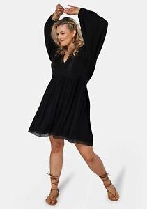 The Poetic Gypsy - Black Night Love Dress  -  Size 16